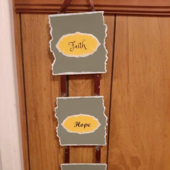 Faith Hope Love Sign Living Room Décor